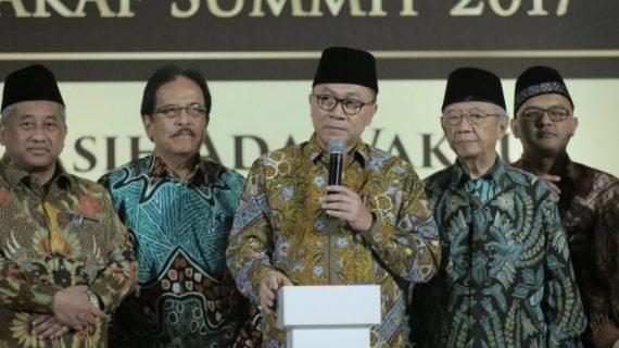 Ketua MPR Pimpin Deklarasi Sejuta Wakaf Untuk Indonesia